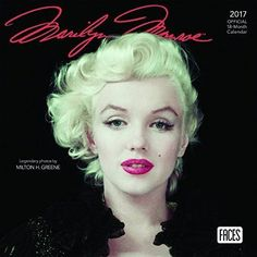 Marilyn Monroe 2017 official 18-month calendar. Legendary  photos by Milton Greene. Published July 2016 by Faces/Browntrout Publishers.