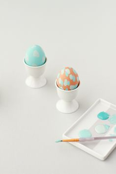 Paper & Stitch - Painterly Pastel Easter eggs