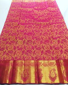 Pure Kanchipuram silk sarees colour ✨Dark pink Shipping free in India 🇮🇳 Price on request . To buy , please direct message…