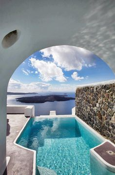 Santorini, Greece. Didnt visit this exact spot either but Santorini was beautiful!!