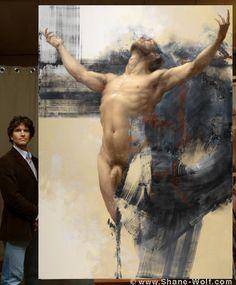 Shane Wolf | 002 Voici l'Homme / The Eidolon Series, oil on canvas, 2011, Prix Taylor (Taylor Foundation Prize) at the Grand Palais, Paris 2011