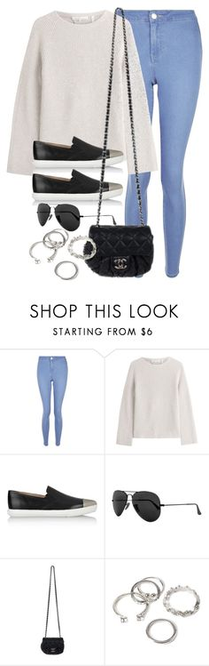 """""""Untitled #12527"""" by vany-alvarado ❤ liked on Polyvore featuring New Look, Helmut Lang, Miu Miu, Ray-Ban, Chanel and Forever 21"""