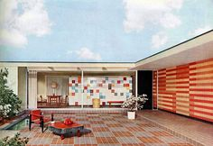 Mid Century Mod Outdoor Patio designed by Walter Gropius.