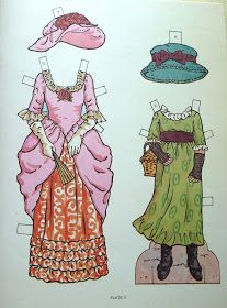 Kate Greenaway paper dolls for Pink Saturday! * * * For more PRECIOUS PINK POSTS , go to Beverly's PINK SATURDAY !!!