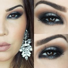 Tutorial – maquiagem Ponto de Luz com batom Dunas. Por @evelynconversani. #Makeup #Black #Gray #Glitter #Chic #Nude #Beauty #Eyeshadow #Beautiful #Pretty #Noite