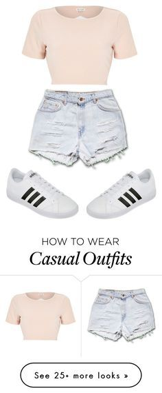 """Simply Casual"" by zileynap on Polyvore featuring River Island and adidas"