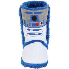 Hot Topic Star Wars R2-D2 Slipper Boots (205 NOK) ❤ liked on Polyvore featuring shoes and slippers