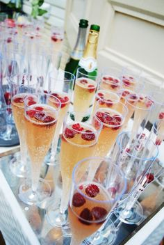 Mimosas cocktail for summer engagement party