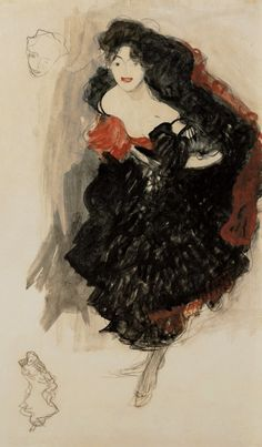 By Gustav Klimt, 1908, Study for Judith II.