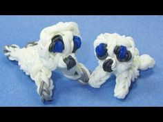 Rainbow Loom Charms: BABY SEAL Pup: How to Make these Rainbow Loom Animal Designs / Figures