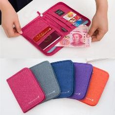 [ $48 OFF ] 10Pcs/lot New Fashion Oxford Fabric Solid Color Credit Card Passport Holder Short Cash Wallet Multifunction Travel Passport Bags