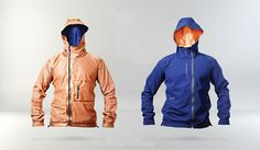 This reversible windbreaker can maintain your body temp. Research And Development, Design Research, Mens Fashion, Fashion Outfits, Outdoor Gear, Fashion Forward, Rain Jacket, Windbreaker, Street Wear