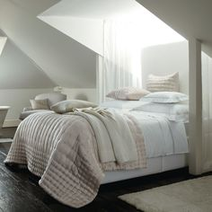 soft blush and white - Cashmere Throw - Bedspreads & Cushions | The White Company