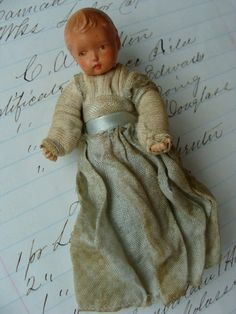 Very Rare Antique Baby Doll by reginasstudio on Etsy Antique Dollhouse, Dollhouse Toys, Primitive Doll, Old Dolls, Hello Dolly, Rare Antique, 1930s, Baby Dolls, Doll Clothes