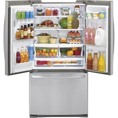 LG - 26.8 Cu. Ft. French Door Refrigerator with Thru-the-Door Ice and Water - Stainless Steel - AlternateView5 Zoom