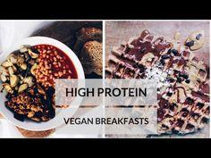 protein powder and vanilla extract waffles