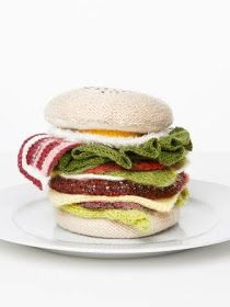 Madame tricot - hamburger #knitting #inspiration