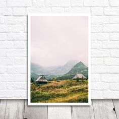 The Hala Gasienicowa in the Tatra mountains in Poland. PLEASE NOTE: This is a listing for a digital printable file, no physical product will be shipped /// The Following high resolution 300dpi File Sizes Are Included /// 8x10 Ratio 8x12 Ratio 11x14 Ratio The images have these