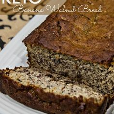 Keto Banana Walnut Bread with Bananas, Almond Flour, Large Eggs, Walnuts, Olive . - Food for fitness - Walnut Bread Recipe, Banana Walnut Bread, Paleo Banana Bread, Best Keto Bread, Banana Bread Recipes, Low Carb Desserts, Low Carb Recipes, Dessert Recipes, Dinner Recipes