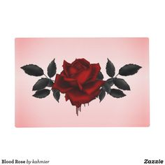 Blood Rose Placemat  #zazzlemade