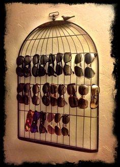 My own Sunglass Storage/Wall Art!!