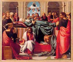 """Fernando YÁÑEZ DE ALMEDINA y Fernando DE LOS LLANOS: """"El tránsito de la Virgen"""" en las puertas del altar mayor de la Catedral de Valencia."""