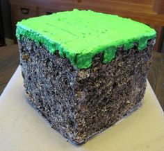 Minecraft Birthday Cake...the only reason I am pinning this is for Justin