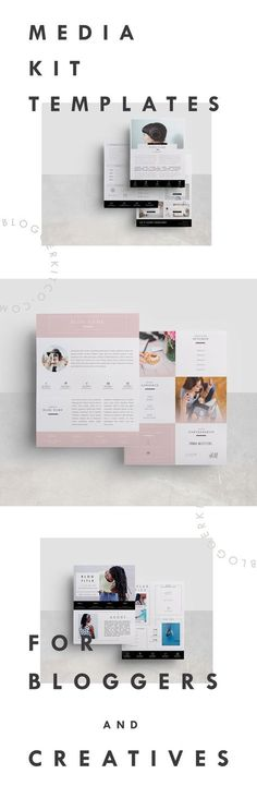 3 Media Kit Templates for Bloggers and Creative Business Owners #mediakit #mediakittemplate