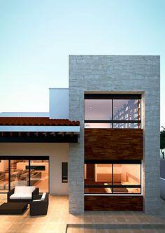 Fachada: Casas de estilo mediterraneo por Emergente Mx
