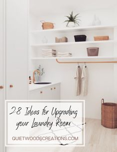 Upgrading your laundry room is not only a fun project, but a great opportunity to declutter, to get creative and to add some personal style to another part of your home. That's why we've put together these decorating ideas to help you upgrade your laundry room #laundryroom #utilityroom #homedecor Custom Wooden Signs, Laundry Room Design, Wood Creations, Kids Decor, Home Decor, Rustic Kitchen, Declutter, Fun Projects, Bathroom Medicine Cabinet