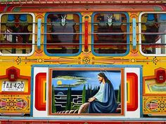 Colorful Colombian bus / Chiva Clean Design, Spanish, Ford, Colorful, Rustic, School, Inspiration, Colombia, Staircases