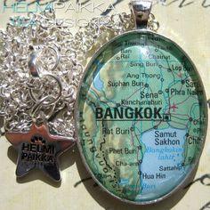 Tilaustyönä #karttakoru #Bangkok <3