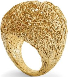 Gold thread ring by Roberto Coin