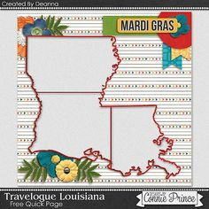 FREE Travelogue:  Louisiana  Quick Page Freebie By Deanna from Connie Prince