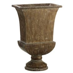 Tulip Urn 26in DRIFTWOOD FINISH