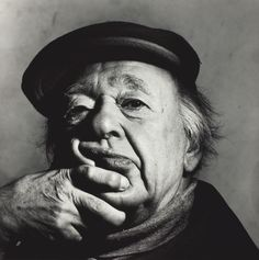 Eugene Ionesco, great Romanian playwright, New York, October printed Gelatin silver print. Photographed by Irving Penn. L'art Du Portrait, Portraits, Portrait Photography, White Photography, Irving Penn Portrait, Nova Jersey, Georgia O'keeffe, Eugene Ionesco, Fashion Fotografie