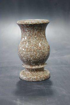 Get Quotations · 9x5-C Seashell Pink Granite Monument Vase Cemetery Tombstone Headstone Gravestone Flower Memorial Company Prices