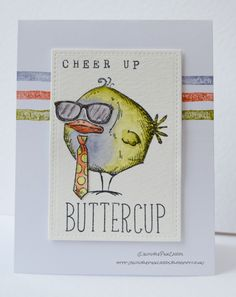 InvisiblePinkCards: Cheer up, buttercup using Tim Holtz Bird Crazy and Crazy Things