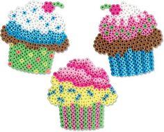 Create these fun cupcakes with pearl beads and pretend to party tea! … – Kawiarnia Mai i Leona – Hama Beads Perler Bead Designs, Hama Beads Design, Diy Perler Beads, Perler Bead Art, Pearler Beads, Melty Bead Patterns, Pearler Bead Patterns, Perler Patterns, Beading Patterns