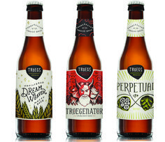 Last year, Hershey, Pennsylvania's long-running Tröegs Independent Brewing decided to reimagine its design, enlisting Philadelphia-based designer Lindsey Tweed. (She was art director at the firm that designed its previous artwork a decade earlier.) The facelift includes a die-cut Tröegs logo and a hand-lettered, illustrative style echoed across the range of beer.