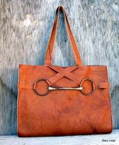 Equestrian Vintage Horse Bit Tote Bag Large Size in by stacyleigh