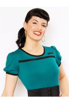 Jewel Show Me Some Love Top - Unique Vintage - Pinup, Holiday & Prom Dresses.