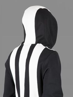 Y-3 HOODY WITH STRIPED INSERTS AND SIDE SEAM INVISIBLE ZIPPED POCKETS