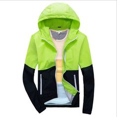 New men's jacket sportswear Men Fashion Thin Windbreaker jacket Zipper Coats Outwear men's clothing
