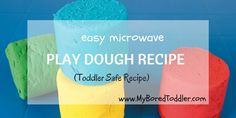 Playdough recipe - My Bored Toddler