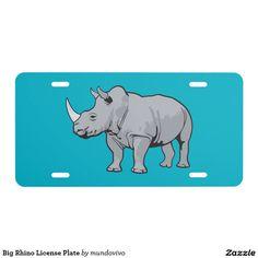 Big Rhino License Plate