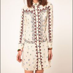 ***dress wanted!!!*** I am looking for this dress! It is ASOS Floral Embroidered Shirt Dress. I have been looking for awhile now. If anyone has it and wants to sell PLEASE let me know!!! Thanks! ASOS Dresses