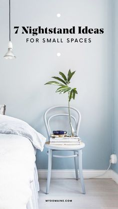 Nightstand ideas for small bedrooms.