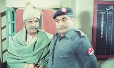 Jameel Bismil and Jameel Fakhri in PTV Lahore centre's Andhera Ujala