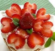 fresh strawberries and cream cake valentine day's dessert?